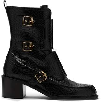 Stella McCartney Crocodile-effect faux leather boots