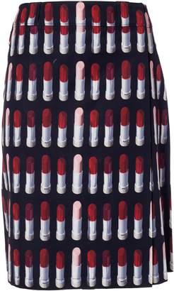 Prada Lipstick Patterned Print Long Skirt