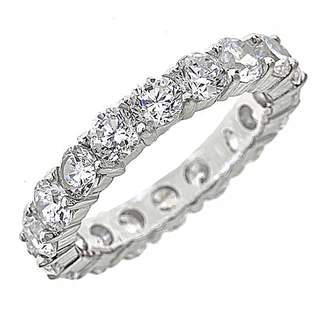 Sterling Forever Women's Sterling Silver & Cubic Zirconia Eternity Band Ring