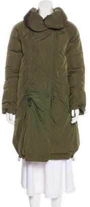 Theory Down Knee-Length Coat