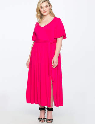 ELOQUII Flutter Sleeve Maxi Dress