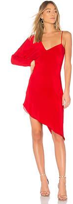 Michelle Mason One Sleeve Asymmetric Dress