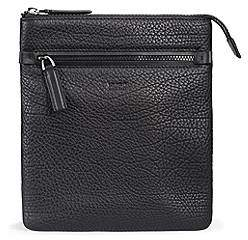HUGO BOSS Zipped envelope bag in buffalo-embossed Italian leather