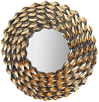 One Kings Lane Wreathed Wall Mirror - Autumnal Gold