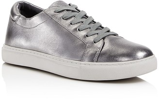 Kenneth Cole Kam Metallic Leather Lace Up Low Top Sneakers $120 thestylecure.com
