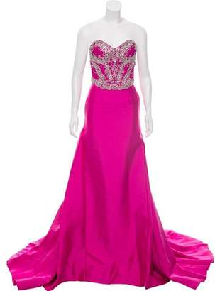 Mac Duggal Embellished Sleeveless Gown