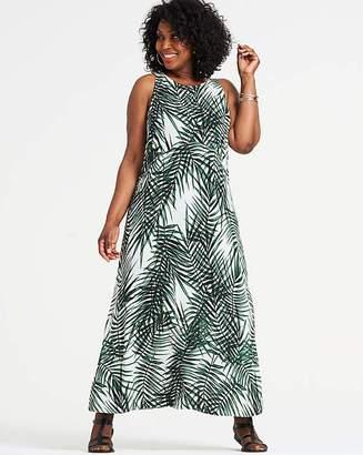 Apricot Tropical Maxi Dress