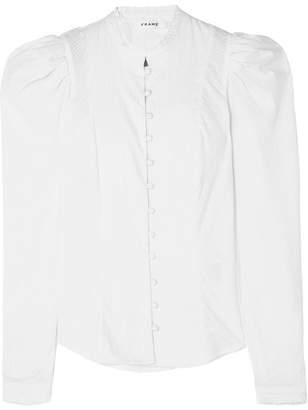 Frame Victorian Cotton-poplin Shirt - White