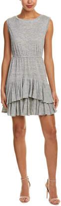 Rebecca Taylor Ruffle Linen A-Line Dress