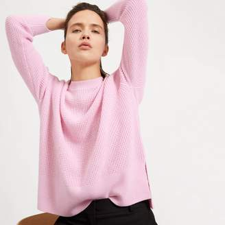 Everlane The Waffle Knit Cashmere Square Crew