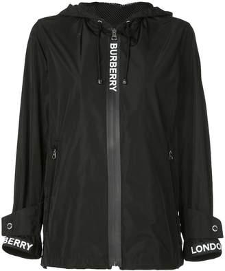 Burberry Logo Detail Shape-memory Taffeta Hooded Jacket