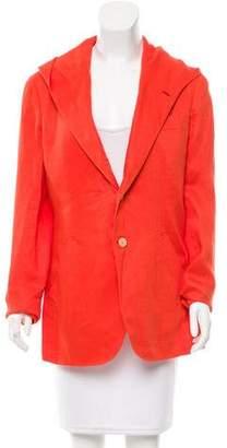 Caruso Linen Hooded Blazer w/ Tags