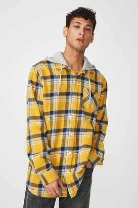 Cotton On Rugged Hooded Shirt