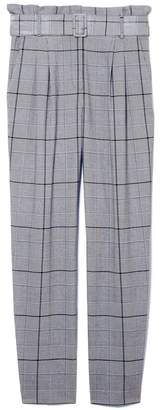 Vince Camuto Windowpane-check Pants