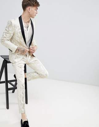 Twisted Tailor super skinny suit pants in gold