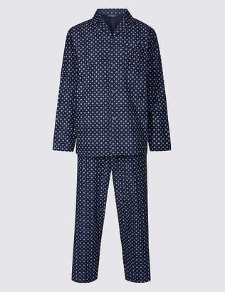 Marks and Spencer Big & Tall Cotton Blend Printed Pyjama Set
