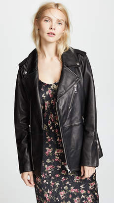 J Brand Eden Maxi Moto Jacket