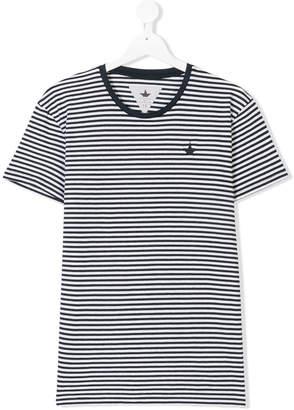 Macchia J Kids TEEN striped crew neck T-shirt