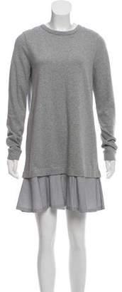 White + Warren Rib Knit Mini Dress