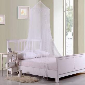 Hillda Kids Galaxy Collapsible Hoop Sheer Mosquito Net Bed Canopy