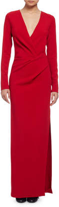 Lanvin Long-Sleeve Column Gown, Red $2,440 thestylecure.com
