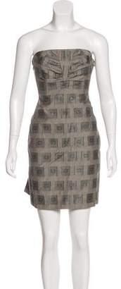 Kenzo Strapless Mini Dress