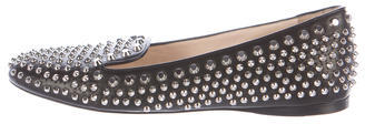 prada Prada Embellished Leather Loafers