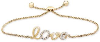 Wrapped Diamond Love Bolo Bracelet (1/10 ct. t.w.) in 14k Gold