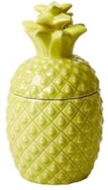 Rice D K - Yellow Ceramic Pineapple Jar - Yellow