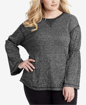 Jessica Simpson Trendy Plus Size Bell-Sleeve Top