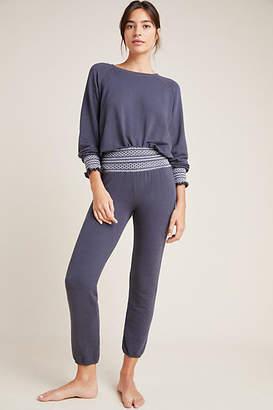 Monrow Smocked High-Rise Sweatpants