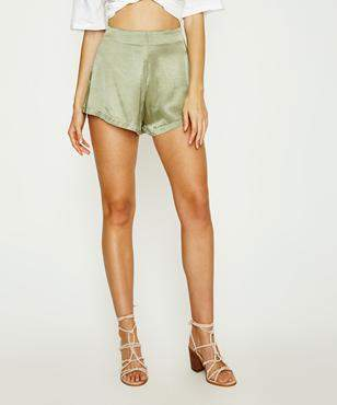 Alice In The Eve Franke Satin Short Green