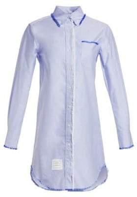Thom Browne Classic Long-Sleeve Button-Down Shirtdress