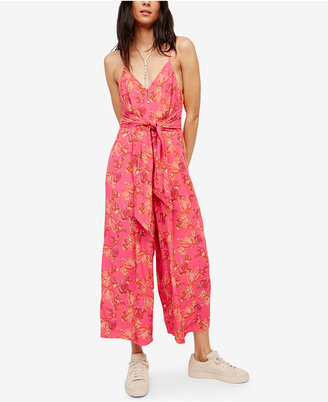 Free People Hot Tropics Printed Jumpsuit $128 thestylecure.com