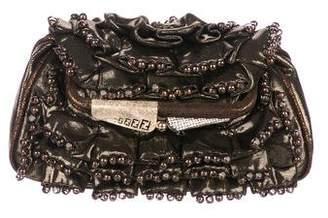 Fendi Embellished Fold-Over Clutch