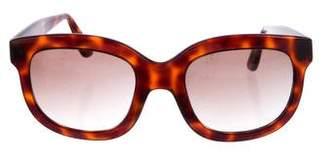 Emmanuelle Khanh Tortoiseshell Oversize Sunglasses