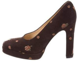 Dolce & Gabbana Floral High-Heel Pumps