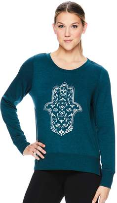 Gaiam Women's Nirvana Hamsa Graphic Yoga Top