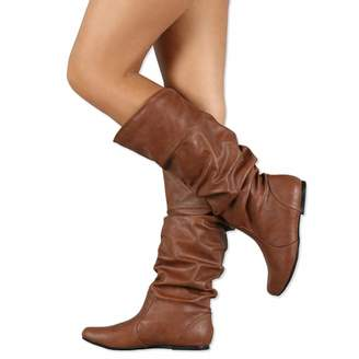 1ac40b5337fd V-DOTE Womens Ladies Knee High Boots Soft Leather Wide Calf Sexy Mid Calf  Boots