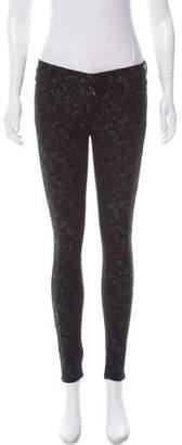 7 For All Mankind Low-Rise Matelassé Pants