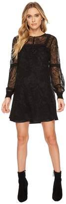 BB Dakota Andres Flocked Chiffon Dress Women's Dress