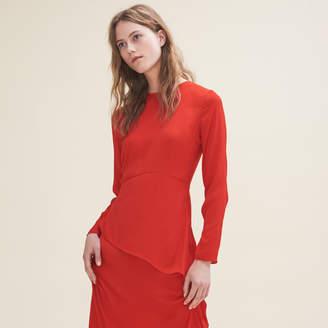 Maje Long asymmetric dress