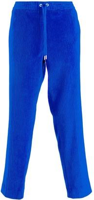 Moncler cropped corduroy track pants