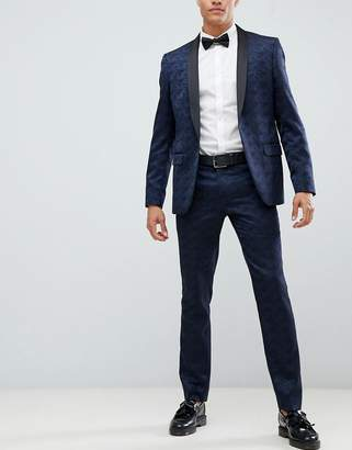 Farah Smart Keeling floral slim fit suit pants