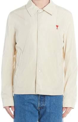 Ami Paris Logo Patch Button-Up Jacket