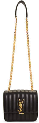Saint Laurent Black Medium Vicky Monogramme Chain Bag