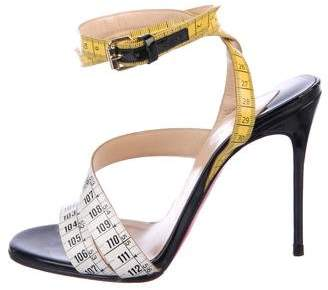 Christian Louboutin Measuring Tape Ankle Strap Sandals