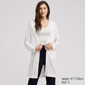 Uniqlo Women s Linen Blended Long-sleeve Long Cardigan abf0467ef