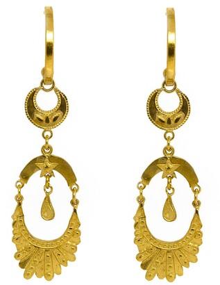 Annabelle Lucilla Jewellery Moon Empress Fan Chandelier Hoops