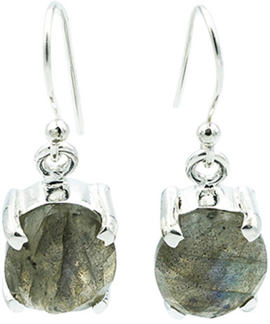 Exex Design Jewelry Sterling Silver Clearwater Labradorite Earrings